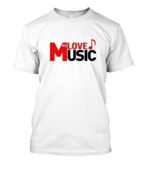 LOVE my MUSIC, Men's Round T-shirt