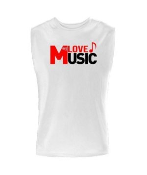LOVE my MUSIC, Men's Sleeveless T-shirt