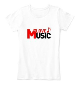 LOVE my MUSIC, Women's Round Neck T-shirt