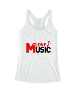 LOVE my MUSIC, Women's Round Neck T-shirt