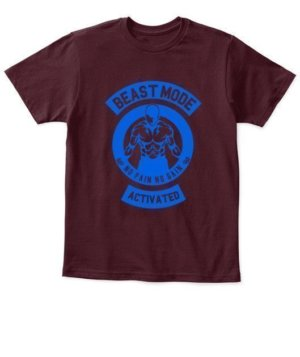 Beast mode activated, Kid's Unisex Round Neck T-shirt