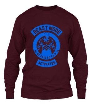 Beast mode activated, Men's Long Sleeves T-shirt