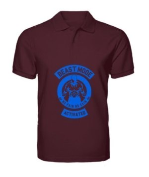 Beast mode activated, Men's Polo Neck T-shirt