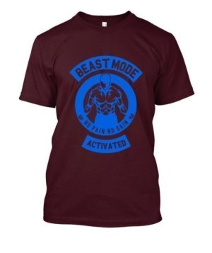 Beast mode activated, Men's Round T-shirt