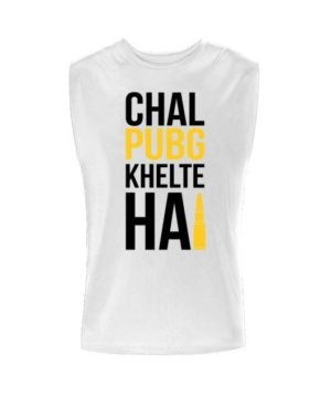Chal PUBG khelte hai, Men's Sleeveless T-shirt