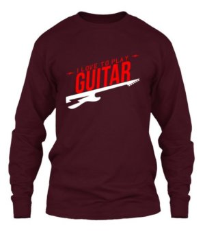 I love to play guitar, Men's Long Sleeves T-shirt
