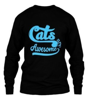 Cats are awesome, Men's Long Sleeves T-shirt