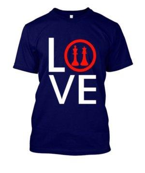 Love Chess, Women's Round Neck T-shirt