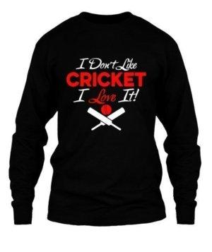 I LOVE CRICKET, Kid's Unisex Round Neck T-shirt