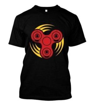 Fidget Spinner, Men's Round T-shirt