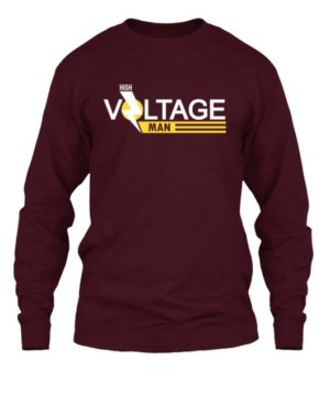 High Voltage man, Men's Long Sleeves T-shirt