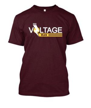 High Voltage man, Men's Round T-shirt