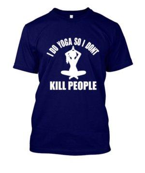 I DO YOGA, Men's Round T-shirt
