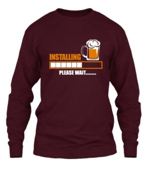 Installing Beer, Men's Long Sleeves T-shirt