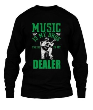 Music is my drug dealer, Men's Long Sleeves T-shirt