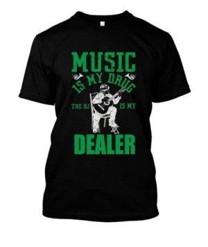 Music is my drug dealer, Men's Round T-shirt