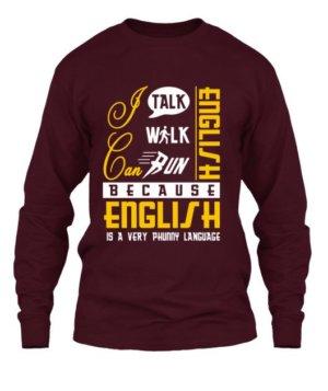 I can talk english, Men's Long Sleeves T-shirt