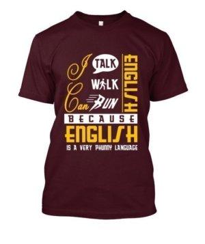 I can talk english, Men's Round T-shirt