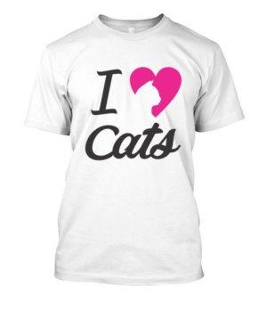I love cats, Men's Round T-shirt
