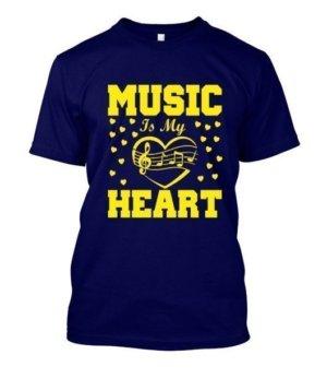 MUSIC IS MY HEART, Women's Hoodies