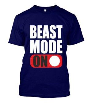 BEAST MODE ON, Men's Round T-shirt