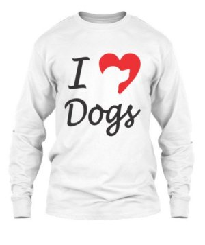 I love dogs, Men's Long Sleeves T-shirt