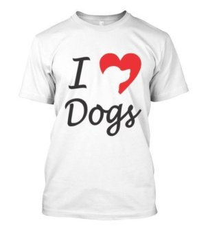 I love dogs, Men's Round T-shirt