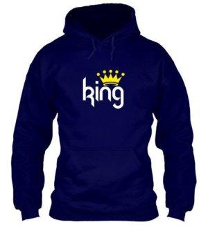 King & Queen Couple Hoodies -Men, Men's Hoodies