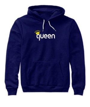 King & Queen Couple Hoodies -Women, Women's Hoodies