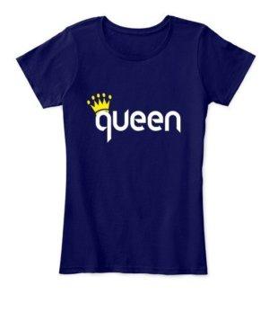 King & Queen Couple Hoodies -Women, Women's Round Neck T-shirt