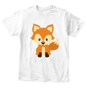 Baby fox, Kid's Unisex Round Neck T-shirt