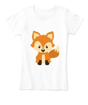 Baby fox, Women's Round Neck T-shirt