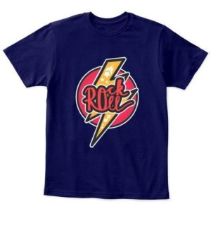 Rock n roll, Kid's Unisex Round Neck T-shirt
