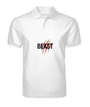 Beast, Men's Polo Neck T-shirt