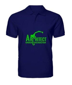ARCHITECT under construction, Men's Polo Neck T-shirt
