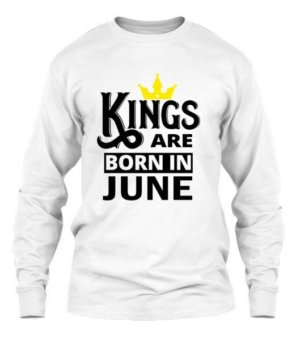 Kings are born in june, Men's Long Sleeves T-shirt