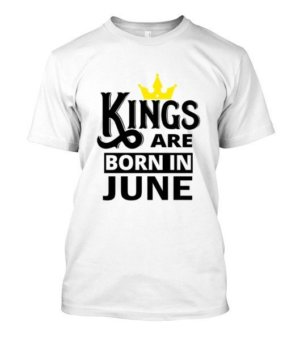 Kings are born in june, Men's Round T-shirt