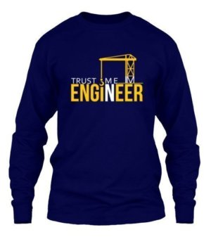 Trust me ENGINEER, Men's Long Sleeves T-shirt