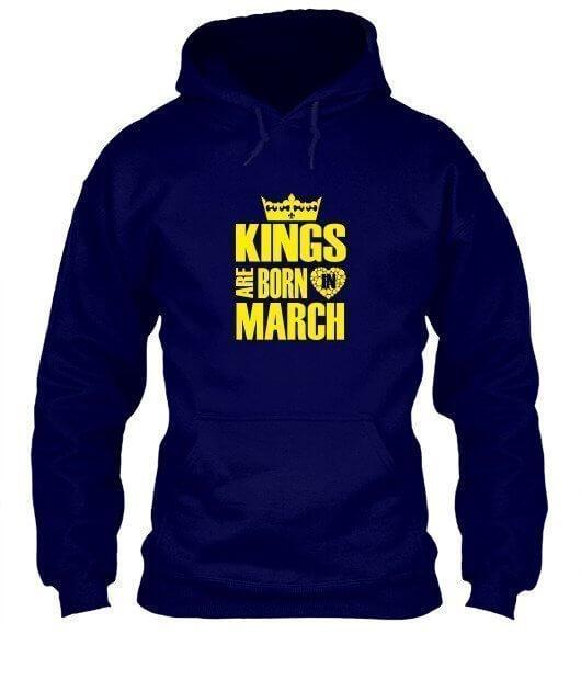 Kings are born in March Hoodies, Men's Hoodies