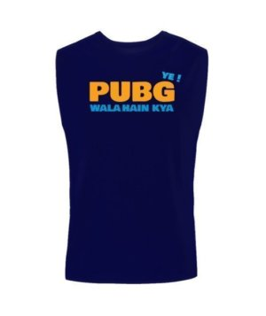Ye PUBG wala hai kya, Men's Sleeveless T-shirt