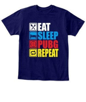 Eat Sleep Pubg Repeat, Kid's Unisex Round Neck T-shirt