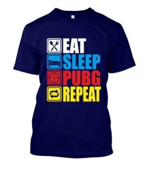 Eat Sleep Pubg Repeat, Men's Round T-shirt