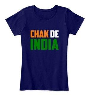Chak de India, Women's Round Neck T-shirt