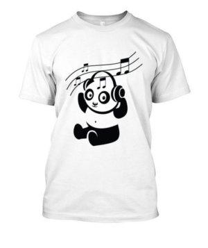 Panda playing, Men's Round T-shirt