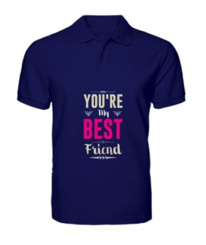 Best friend, Men's Polo Neck T-shirt