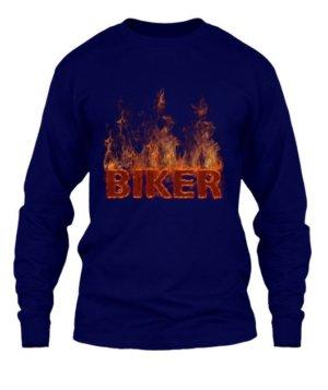 BIKER, Men's Long Sleeves T-shirt