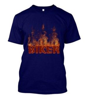 BIKER, Men's Round T-shirt
