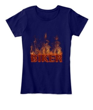 BIKER, Women's Round Neck T-shirt