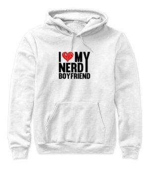 nerdy boyfriend, Women's Hoodies