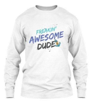 Awesome Dude, Men's Long Sleeves T-shirt